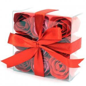 Coffret de 9 roses rouge 1